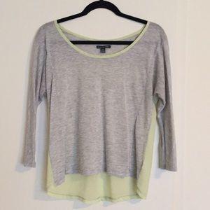 Cotton/Chiffon High-Low top